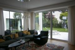 Alu Hebe-Schiebeelemente für Wohnbereiche