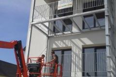 Balkonaufständerung mit Geländer Wohnhof Köck Pischelsdorf