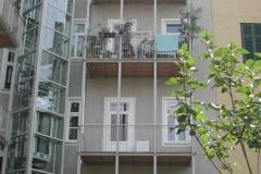 Liftturm Stahl verz mit Balkonaufständerungen + Überdachungen