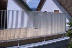 Stahl Geländer verz mit Flachstahl